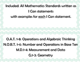 I Can Statements for Math: Common Core Aligned with Exampl
