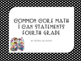 I Can Statements for Math, Fourth Grade