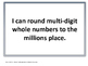 I Can Statements for Missouri Learning Standards (4th Grade-Math)