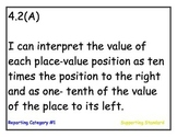 I Can Statements for New 4th Grade Math TEKS