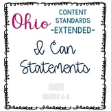 Ohio Extended Content Standards I Can Statements- Math Grades 6-8