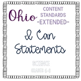 Ohio Extended Content Standards I Can Statements- Science Grades 6-8
