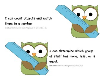 I Can Statements for Pre-K GELDS - MA
