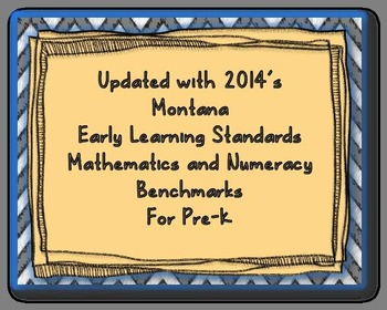 I Can Statements for Pre-K Math