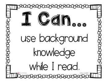 I Can Statements for Reading Street