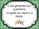 Dance  Grade 6 I Can Statements for Saskatchewan  Curriculum