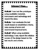 I Can Statements for Science Common Core State Standards Goal 11 Middle School