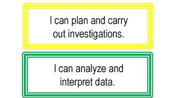 I Can Statements for Science and Engineering Practices (Colorful Theme)