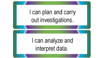 I Can Statements for Science and Engineering Practices (Multi-Colored Theme)