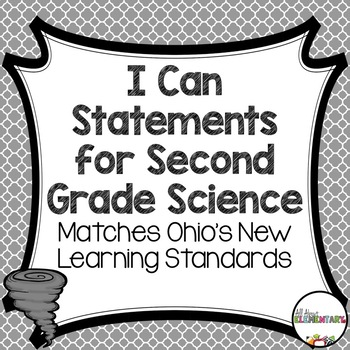 I Can Statements for Second Grade Science