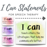 I Can Statements for Speech Therapy