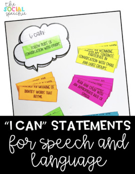 I Can Statements for Speech and Language