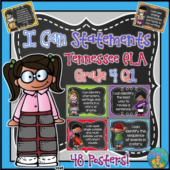 I Can Statements for Tennessee and Common Core ELA Grade 4