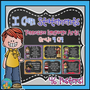 I Can Statements for Tennessee ELA Grade 4 Fourth Quarter