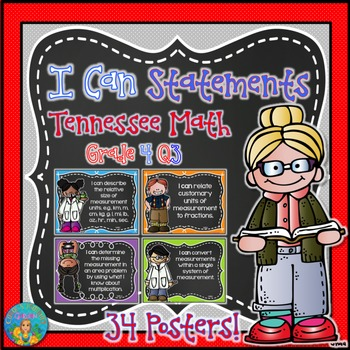 I Can Statements for Tennessee and Common Core Math Grade 4 Q3