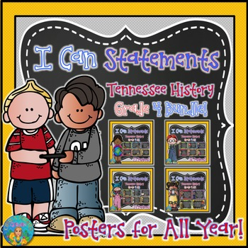 I Can Statements for Tennessee History Grade 4 Entire Year Bundled for Savings!