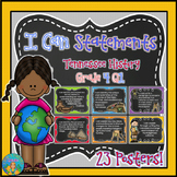 I Can Statements for Tennessee History Grade 4 First Quarter Chalkboard Brights