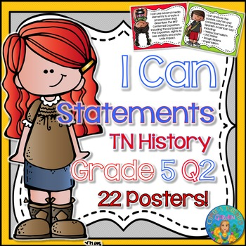 I Can Statements for Tennessee History Grade 5 Second Quar