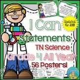 I Can Statements for Tennessee Science Grade 4 All Year Ch