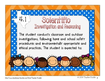 I Can Statements for Texas Fourth Grade Science