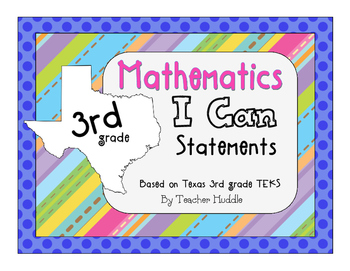 I Can Statements for Texas Third Grade Mathematics