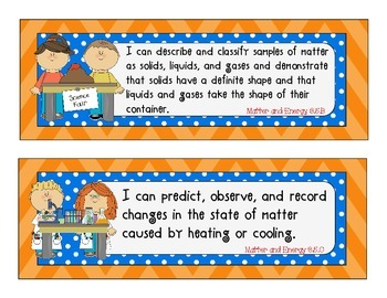 I Can Statements for Texas Third Grade Science