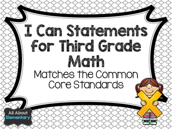 I Can Statements for Math
