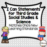 Social Studies and Science I Can Statements