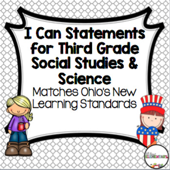 Third Grade Social Studies and Science I Can Statements