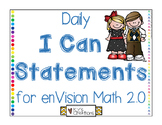 I Can Statements for enVision Math 2.0