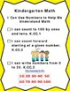 """I Can"" Statements for the Common Core-Kindergarten Complete Set"