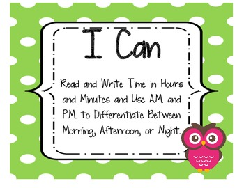 I Can Chpt Objectives 2nd Grade Singapore 2013 Math in Focus® Owls