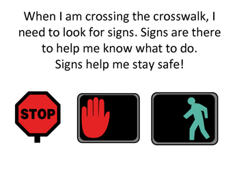 Crossing the Street Social Story - Community Based Instruction Lesson