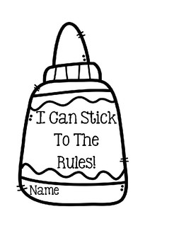 I Can Stick To The Rules - Cute Craft
