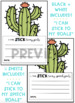 Cactus Goal Writing Sheets for Bulletin Boards