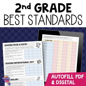 """I Can"" Student Checklists for 2nd Grade Florida Standards LAFS MAFS NGSSS"