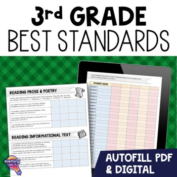 """I Can"" Student Checklists for 3rd Grade Florida Standards"