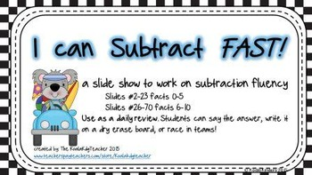 I Can Subtract FAST!