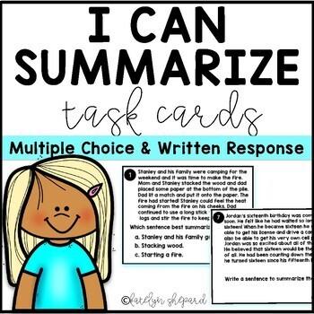 I Can Summarize Fiction Text Task Cards