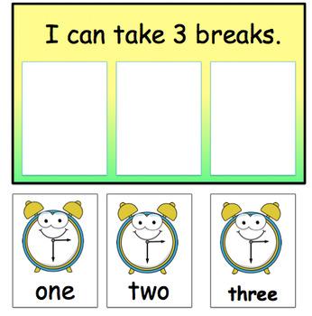 I Can Take 3 Breaks Chart