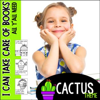 I Can Take Care of Books--Cactus theme