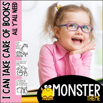 I Can Take Care of Books--Monster theme