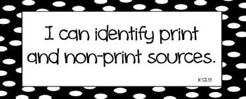 I Can Technology Statements for K-5 (Black and White Dots)