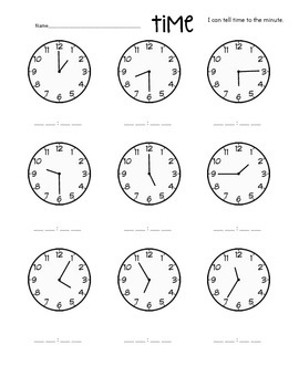I Can Tell Time