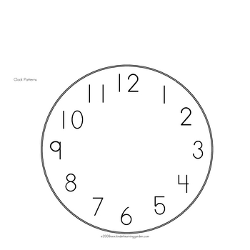 I Can Tell Time Book for Students to Make