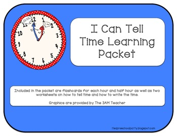 I Can Tell Time Learning Packet