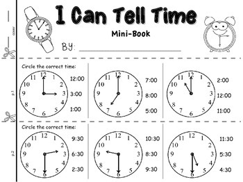 I Can Tell Time {Mini-Book}