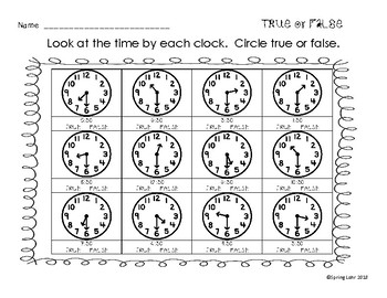 I Can Tell Time - Print and Go - 15 Printable Pages