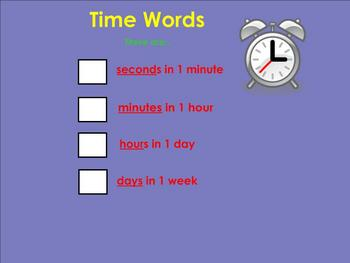 I Can Tell Time! SMART notebook
