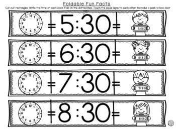 Telling Time to the Half Hour